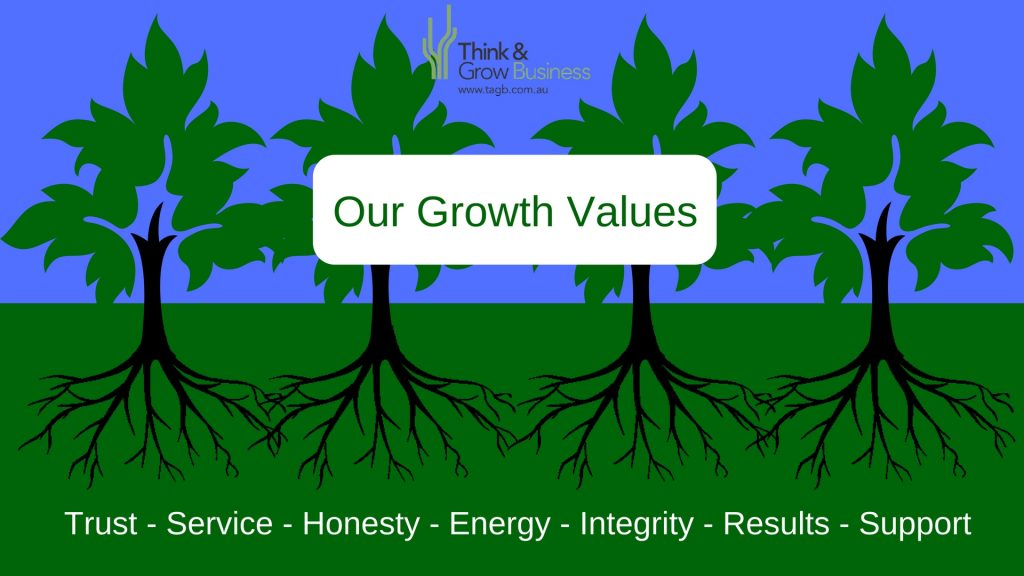 Think and Grow Business Growth Values