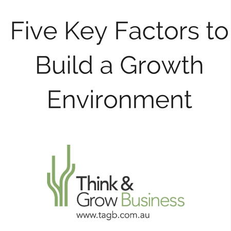 Five Key Factors to Build a Growth Environment