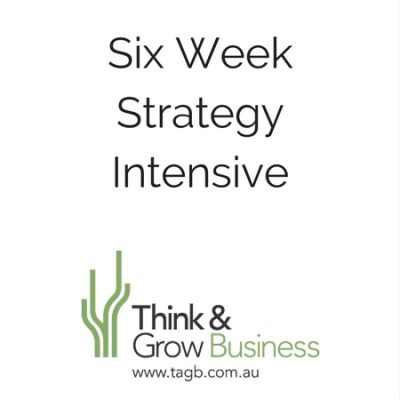 Six Week Strategy Intensive