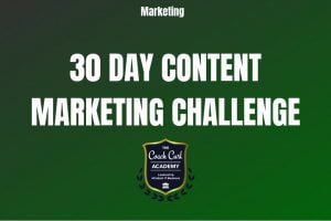 30 Day Content Marketing Challenge