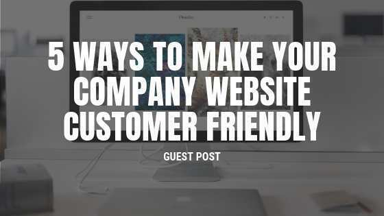 website customer friendly