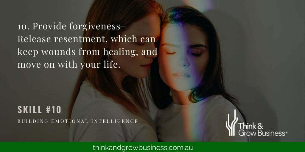 Provide forgiveness