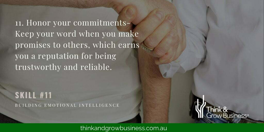 Honour Your Commitments